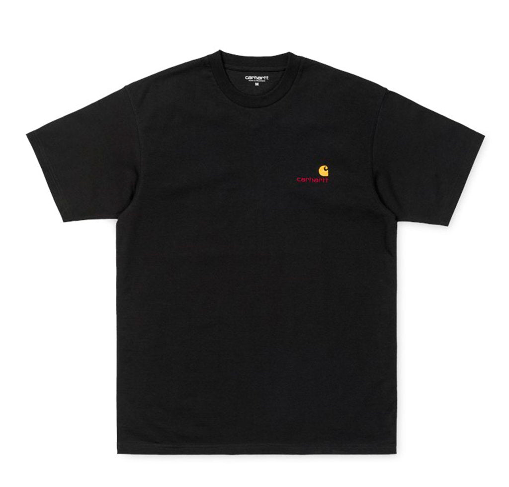 Carhartt WIP American Script T-Shirt: Black - The Union Project