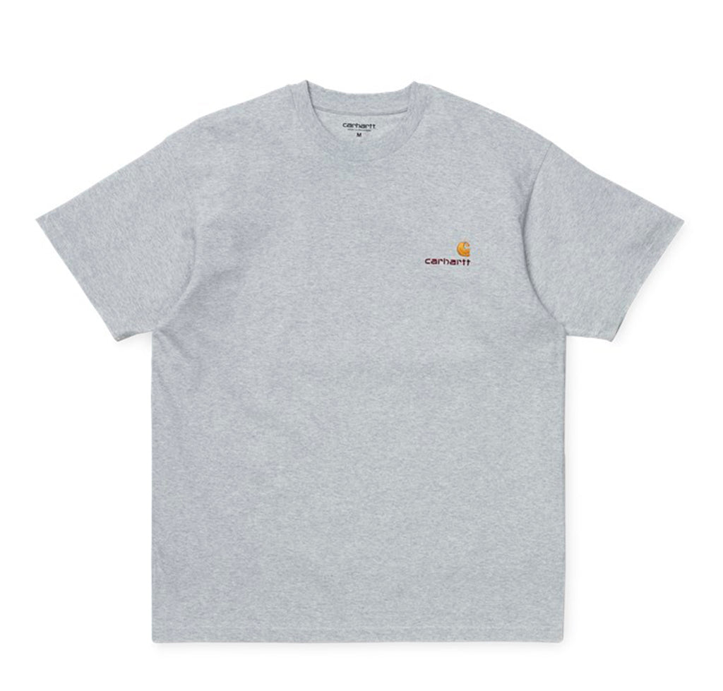 Carhartt WIP American Script T-Shirt: Ash Heather - The Union Project