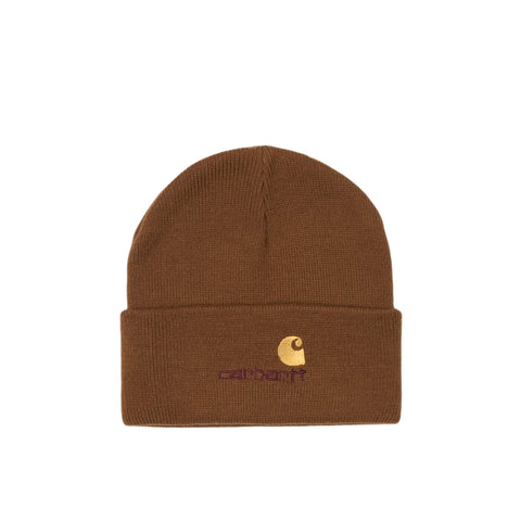 Headwear Carhartt WIP American Script Beanie: Hamilton Brown - The Union Project, Cheltenham, free delivery