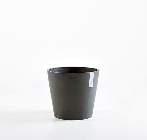 Plant Pots + Vases Ecopots Amsterdam Pot Medium (30cm): Black / Dark Grey - The Union Project, Cheltenham, free delivery