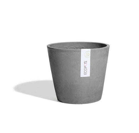 Plant Pots + Vases Ecopots Amsterdam Pot Medium (30cm): Grey - The Union Project, Cheltenham, free delivery