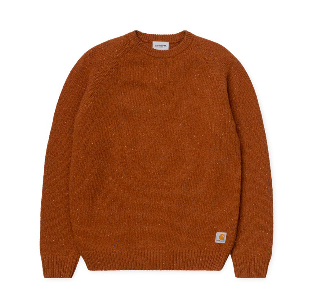 Carhartt WIP Anglistic Sweater: Brandy Heather - The Union Project