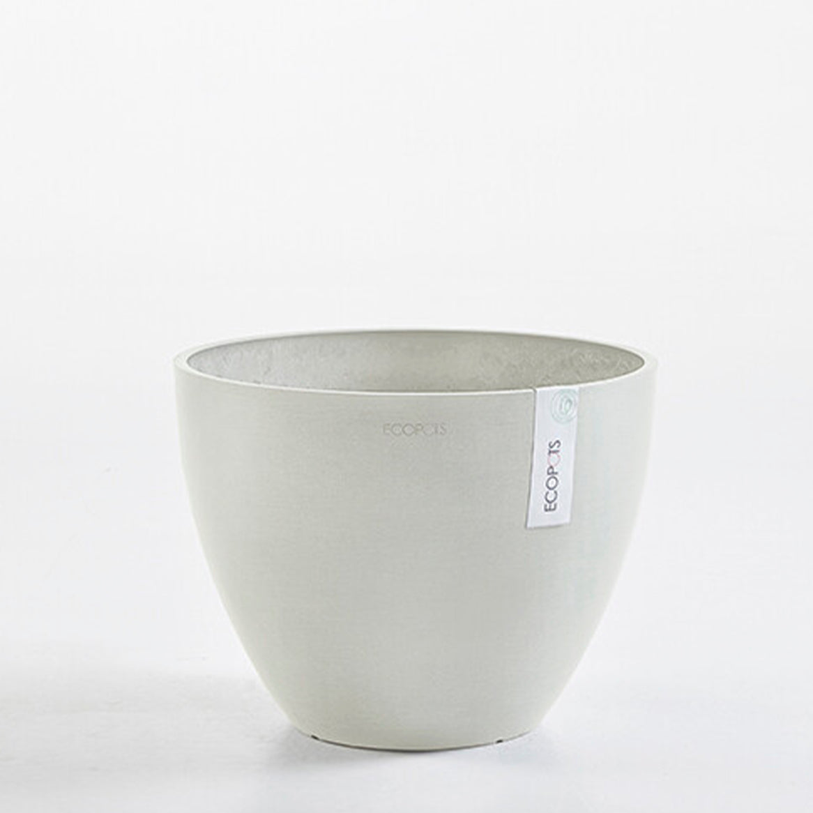 Ecopots Antwerp Pot Large (40cm): White Grey - The Union Project