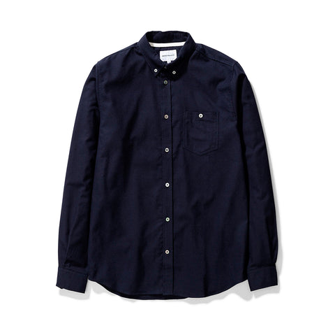 Norse Projects Anton Brushed Flannel: Dark Navy