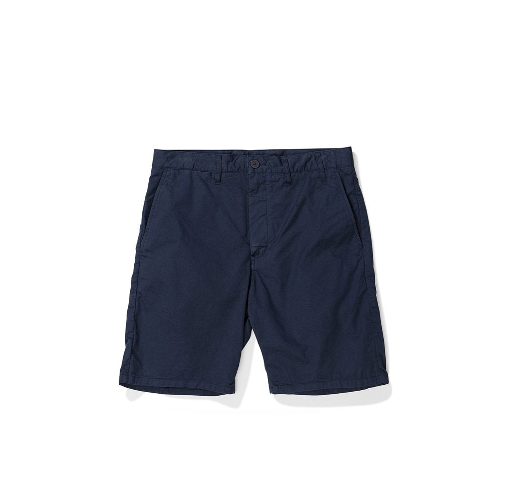 Norse Projects Aros Light Twill Shorts: Dark Navy - The Union Project