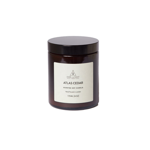 Home Fragrance + Candle Holders Earl of East London Soy Wax Candle: Atlas Cedar - The Union Project
