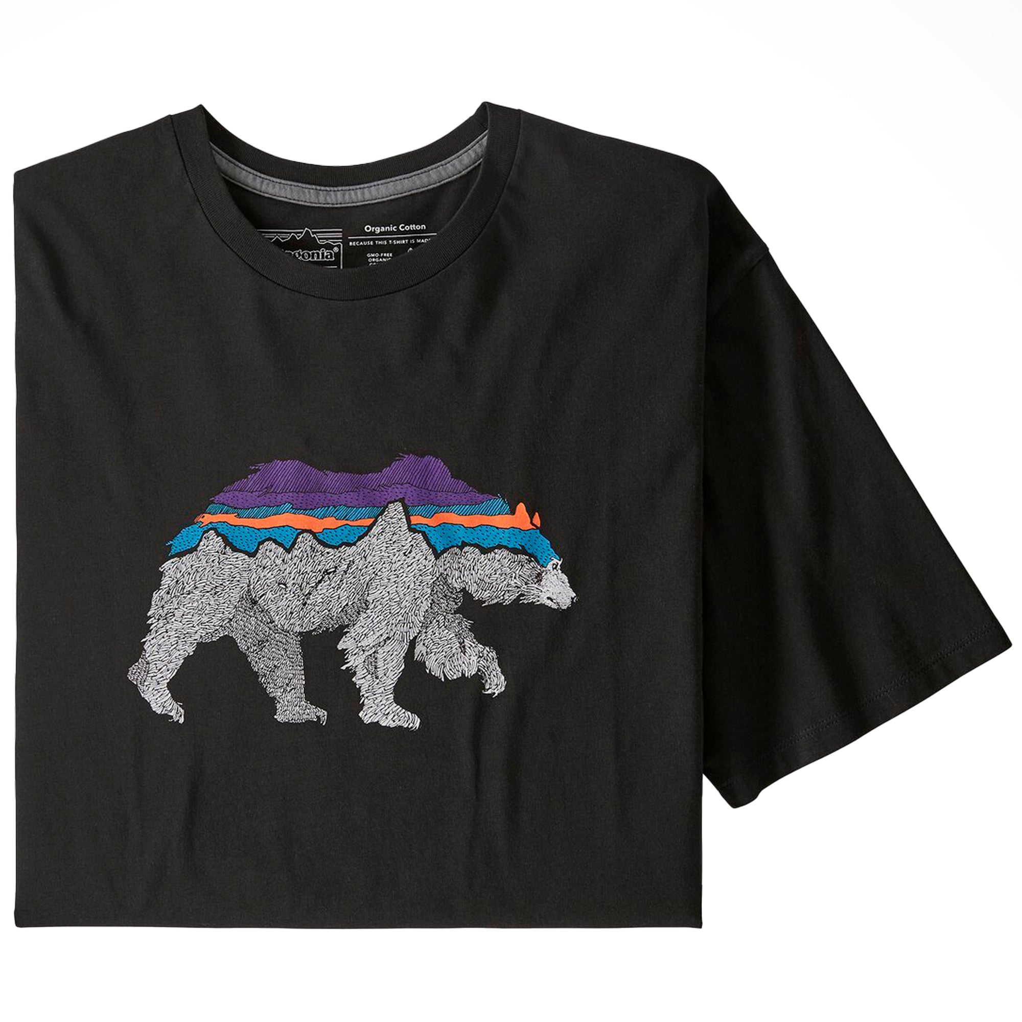 Patagonia Back For Good Organic T-Shirt: Black w/Bear - The Union Project