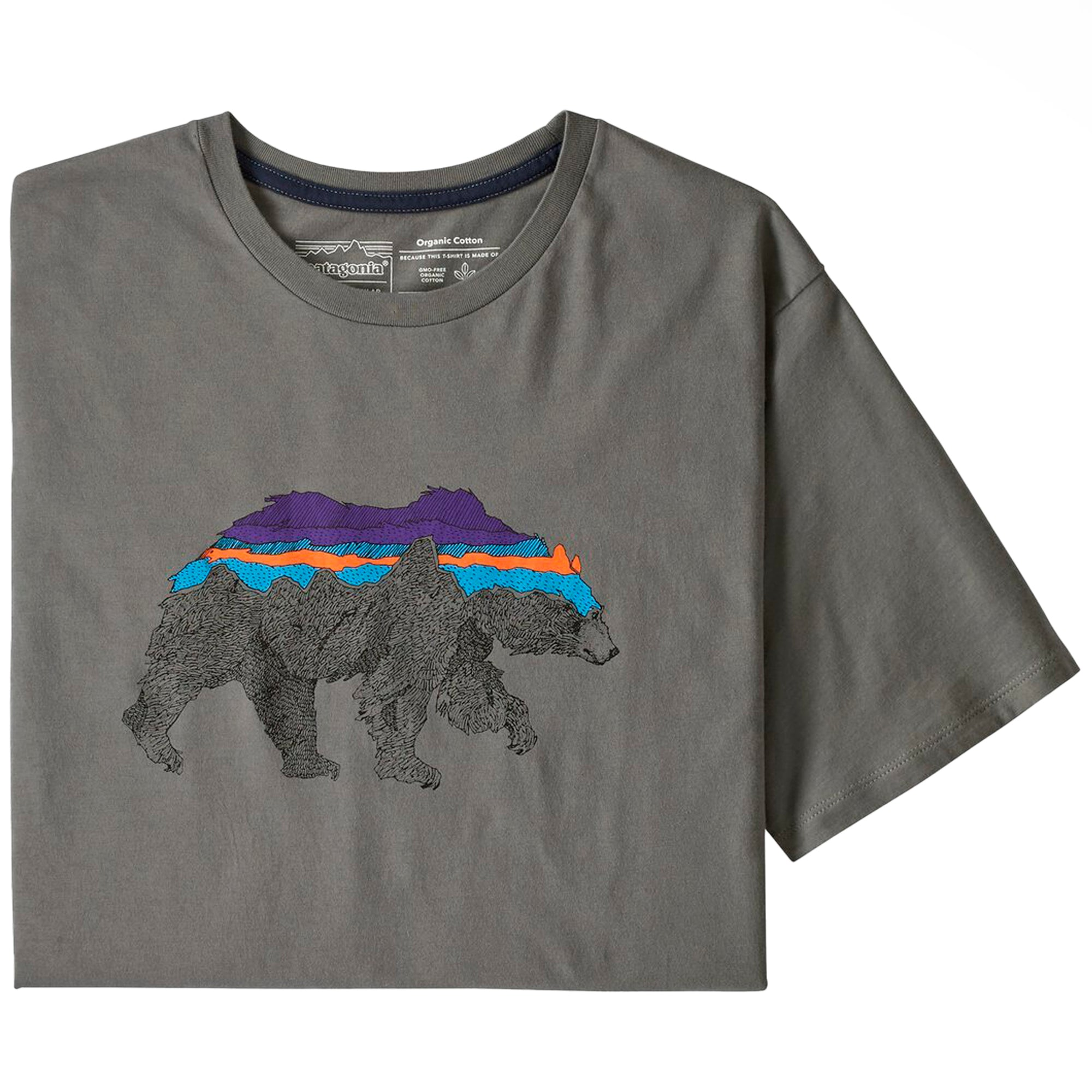 Patagonia Back For Good Organic T-Shirt: Noble Grey w/Bear - The Union Project
