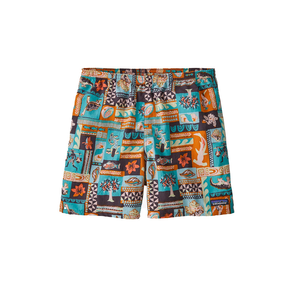 Patagonia Baggies Shorts - 5 in.: Galapagos Archipelagos: Fin Blue - The Union Project