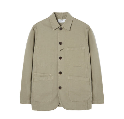 Universal Works Canvas Bakers Jacket: Laurel