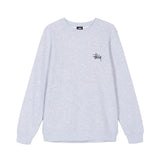 Stussy Basic Stussy Crew Sweat: Ash Heather