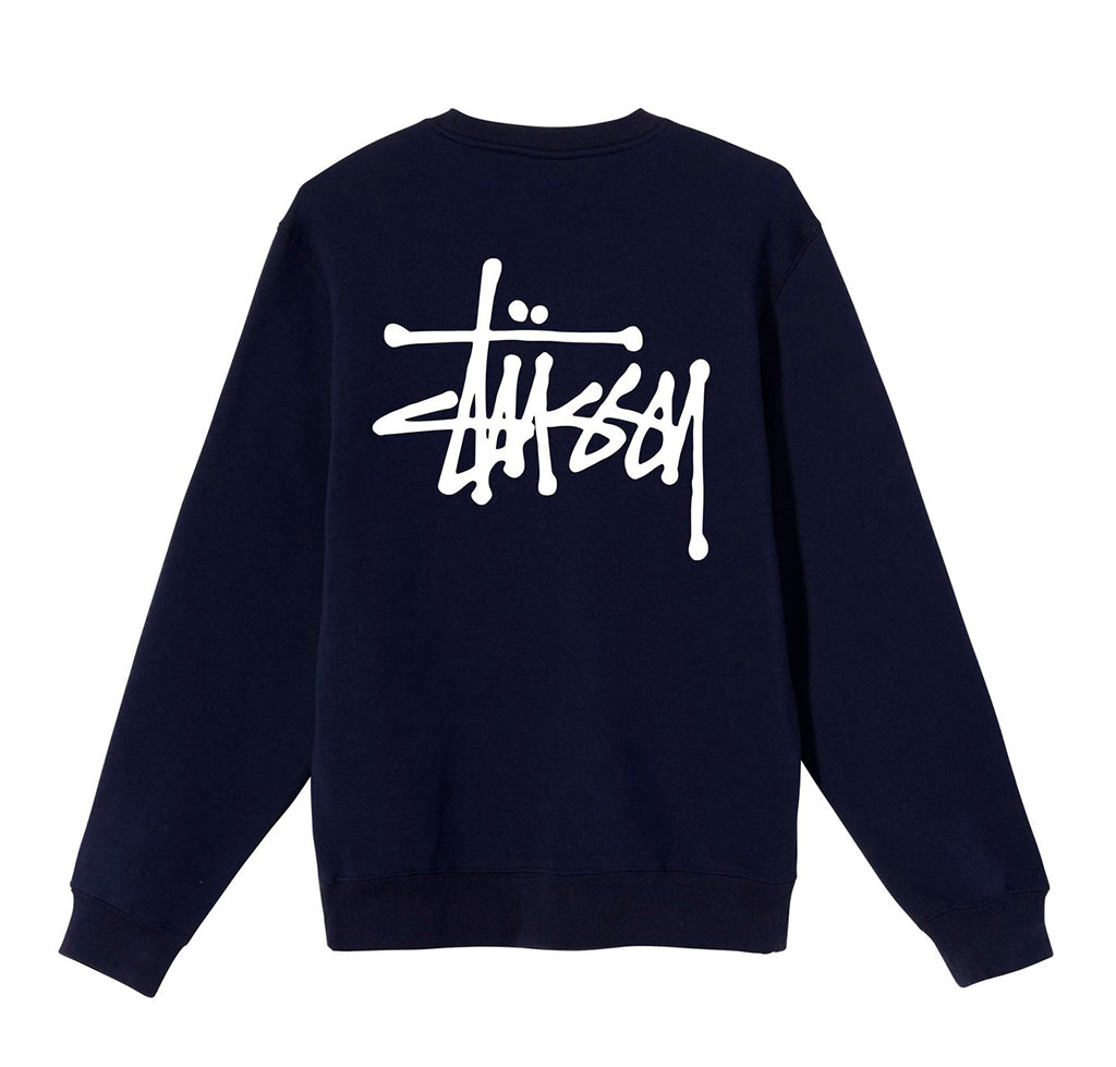 Hoods & Sweats Stussy Basic Stussy Crew: Navy - The Union Project, Cheltenham, free delivery