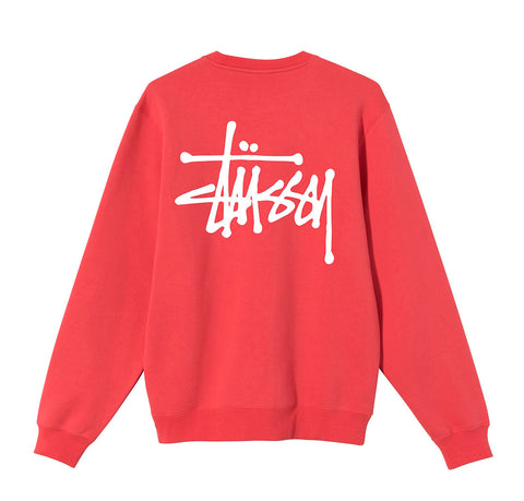 Hoods & Sweats Stussy Basic Stussy Crew: Red - The Union Project, Cheltenham, free delivery