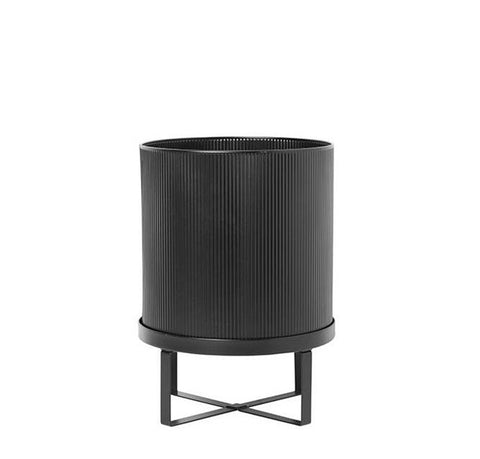 Plant Pots + Vases Ferm Living Bau Pot Large: Black - The Union Project, Cheltenham, free delivery