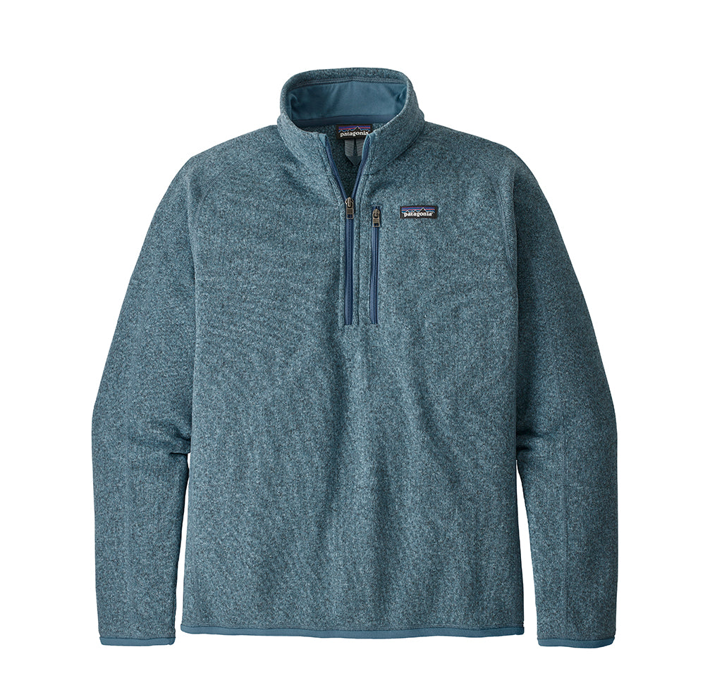 Patagonia Better Sweater 1/4 Zip: Pigeon Blue - The Union Project