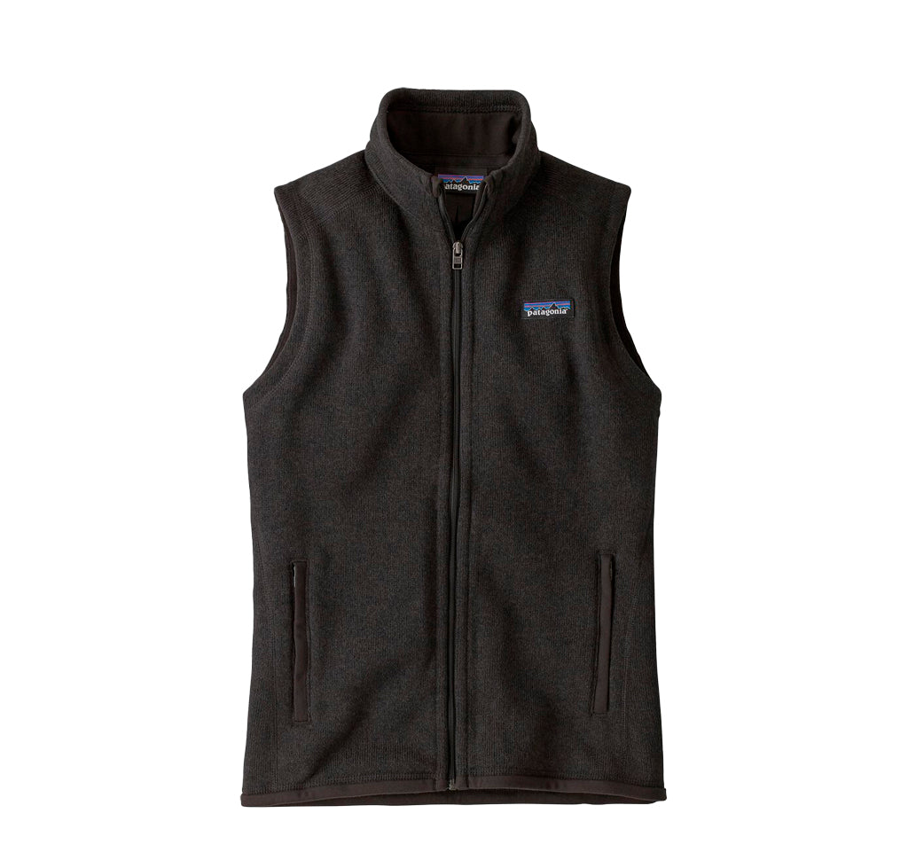 Patagonia Womens Better Sweater Vest: Black - The Union Project