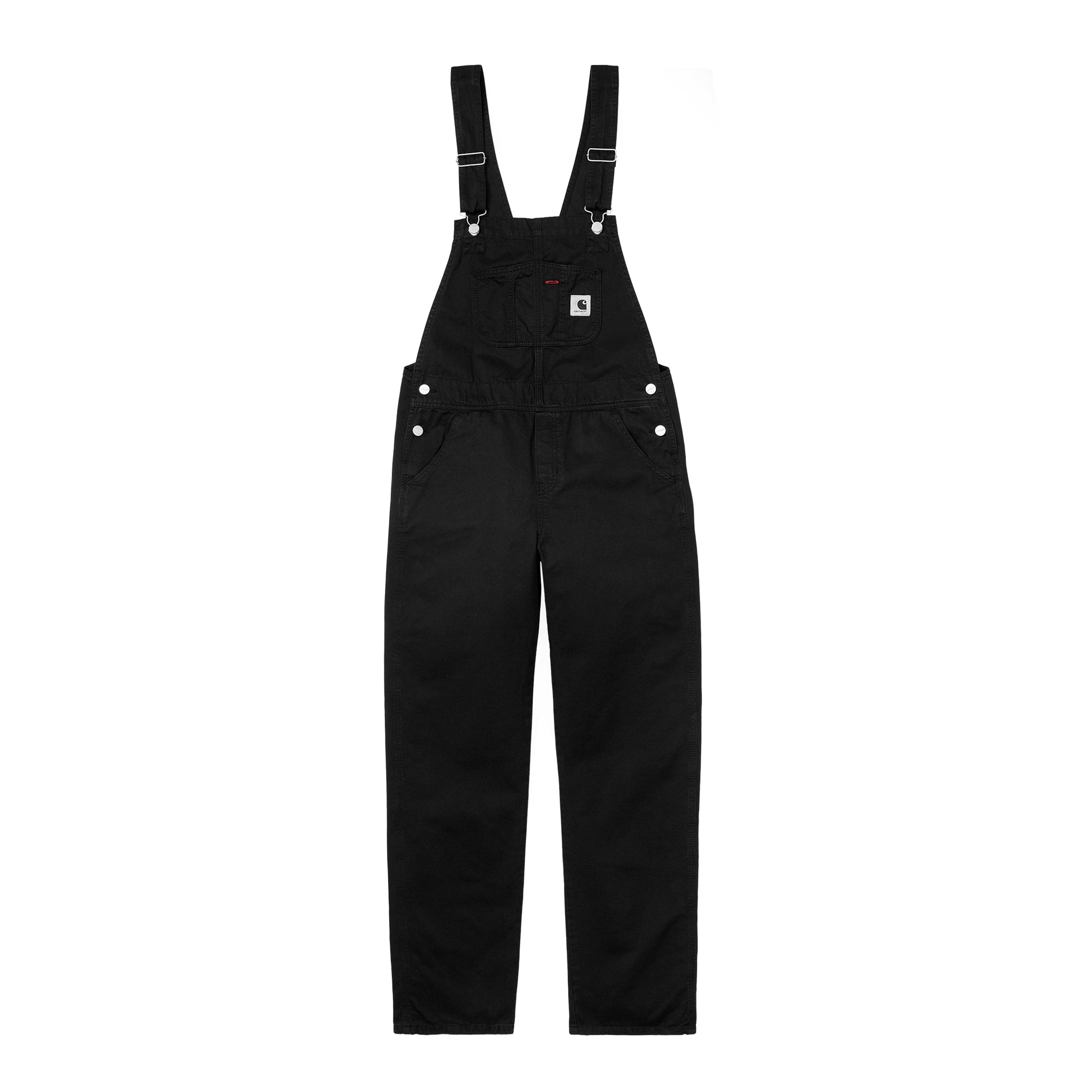 Carhartt WIP Womens Bib Overall Straight: Black - The Union Project