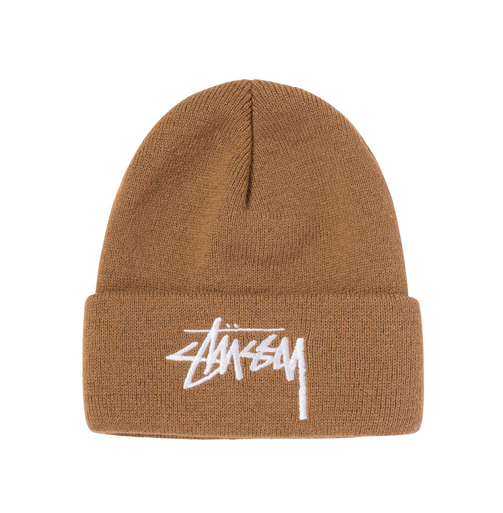 Stussy Big Stock Cuff Beanie: Brown - The Union Project