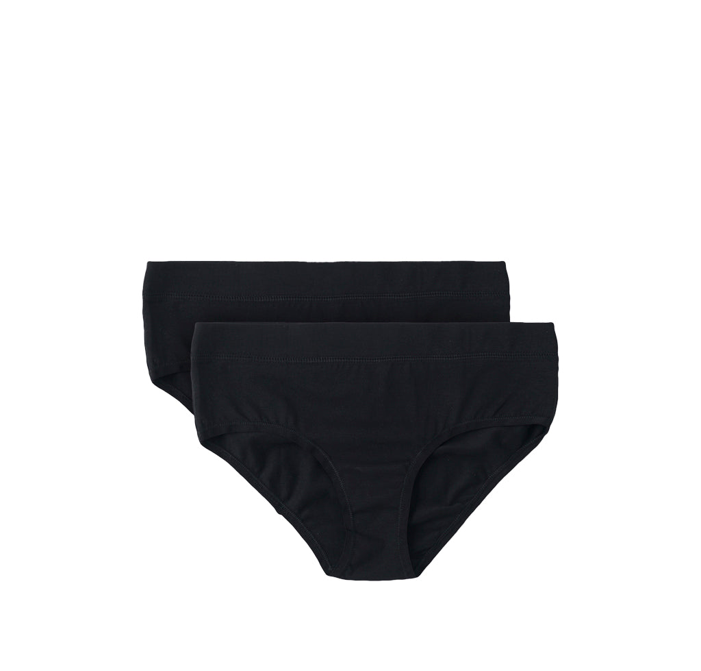 Organic Basics Bikini Briefs 2-Pack: Black - The Union Project