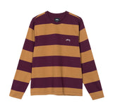 T-Shirts Stussy Bold Stripe Longsleeve Crew: Purple - The Union Project, Cheltenham, free delivery