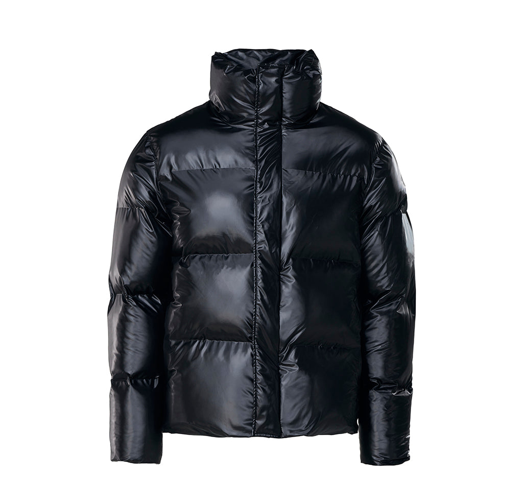 Outerwear Rains Boxy Puffer Jacket: Shiny Black - The Union Project, Cheltenham, free delivery