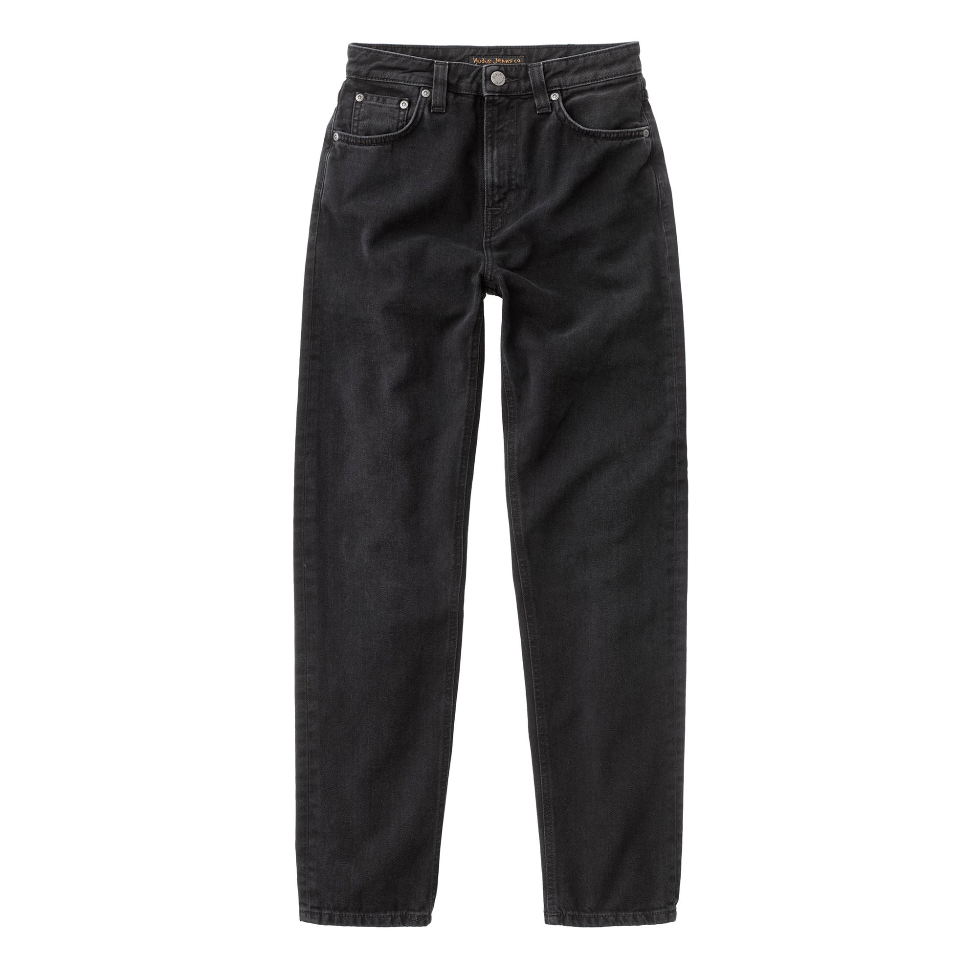 Nudie Jeans Womens Breezy Brit: Black Worn - The Union Project