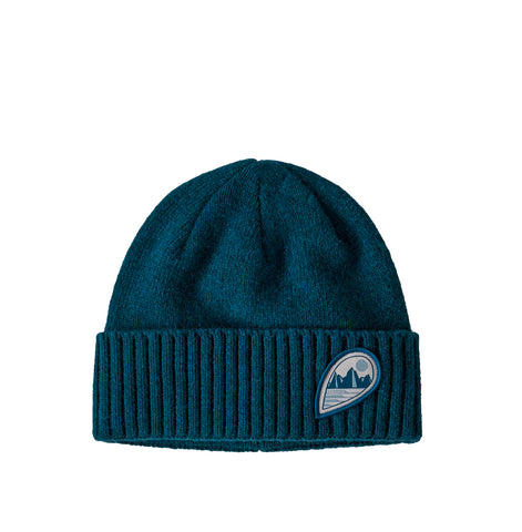 Patagonia Brodeo Beanie: Tube View: Crater Blue
