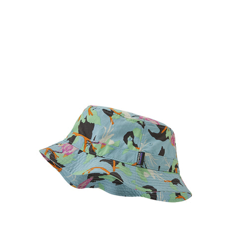 Patagonia Wavefarer Bucket Hat: Spoonbills: Big Sky Blue