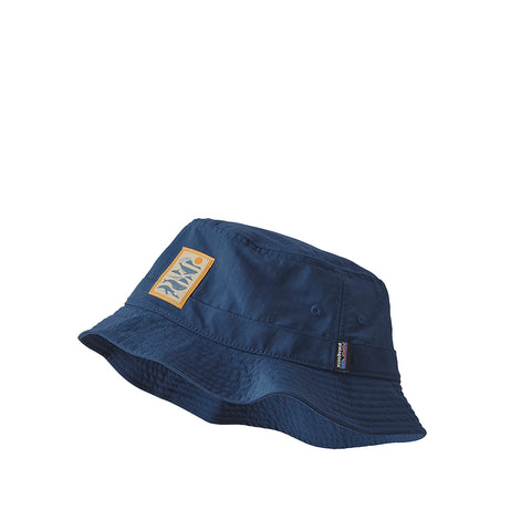 Patagonia Wavefarer Bucket Hat: Whale Tail Tubes: Stone Blue