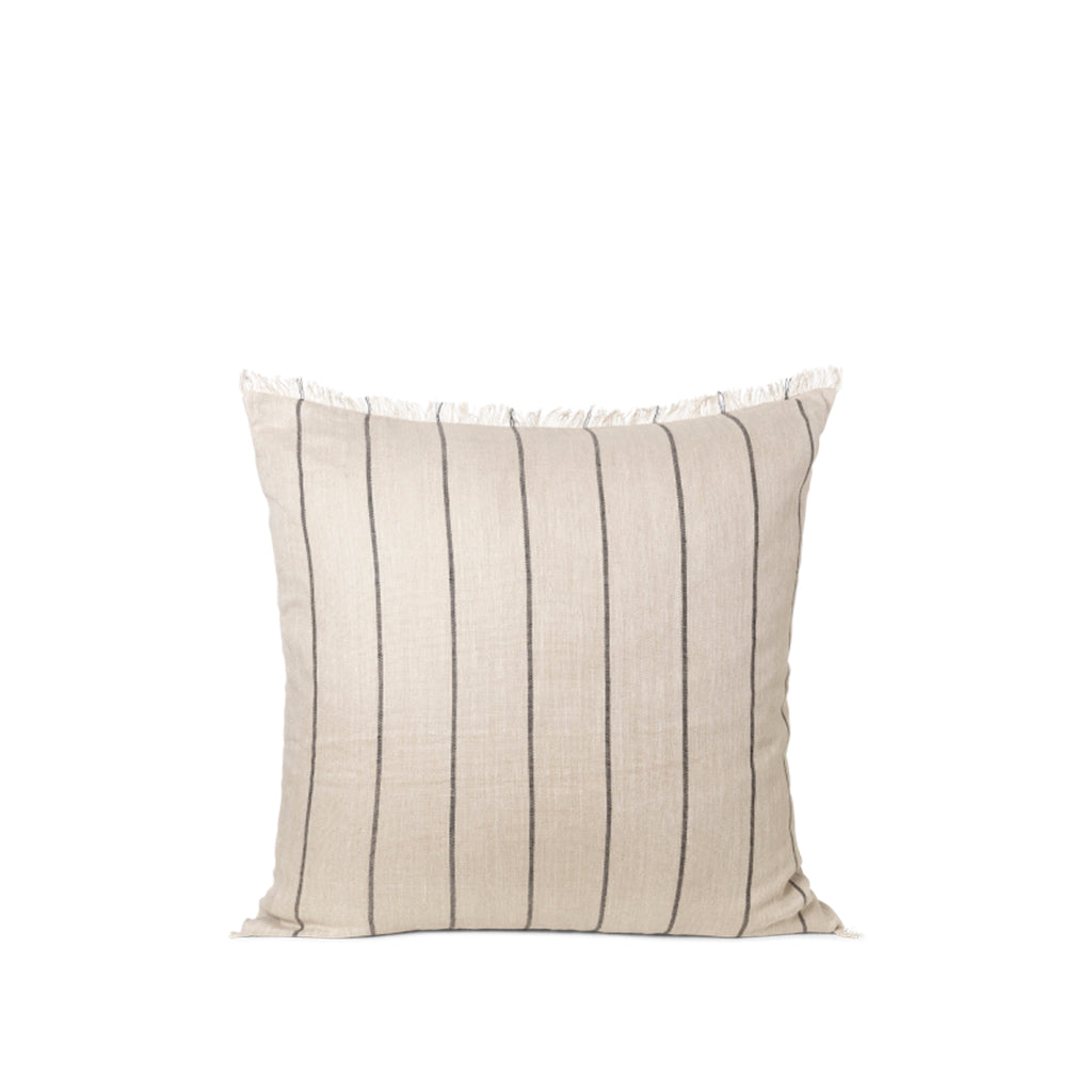 Ferm Living Calm Cushion 80x80: Camel / Black - The Union Project