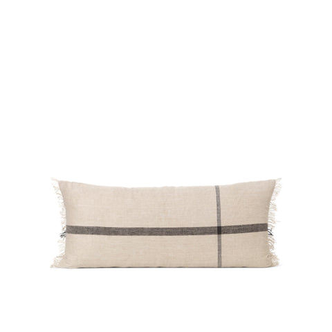 Cushions + Blankets Ferm Living Calm Cushion 40x90: Camel / Black - The Union Project, Cheltenham, free delivery