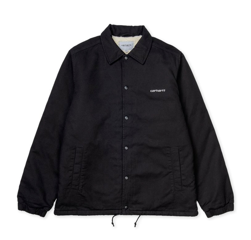 Outerwear Carhartt WIP Canvas Coach Jacket: Black - The Union Project, Cheltenham, free delivery