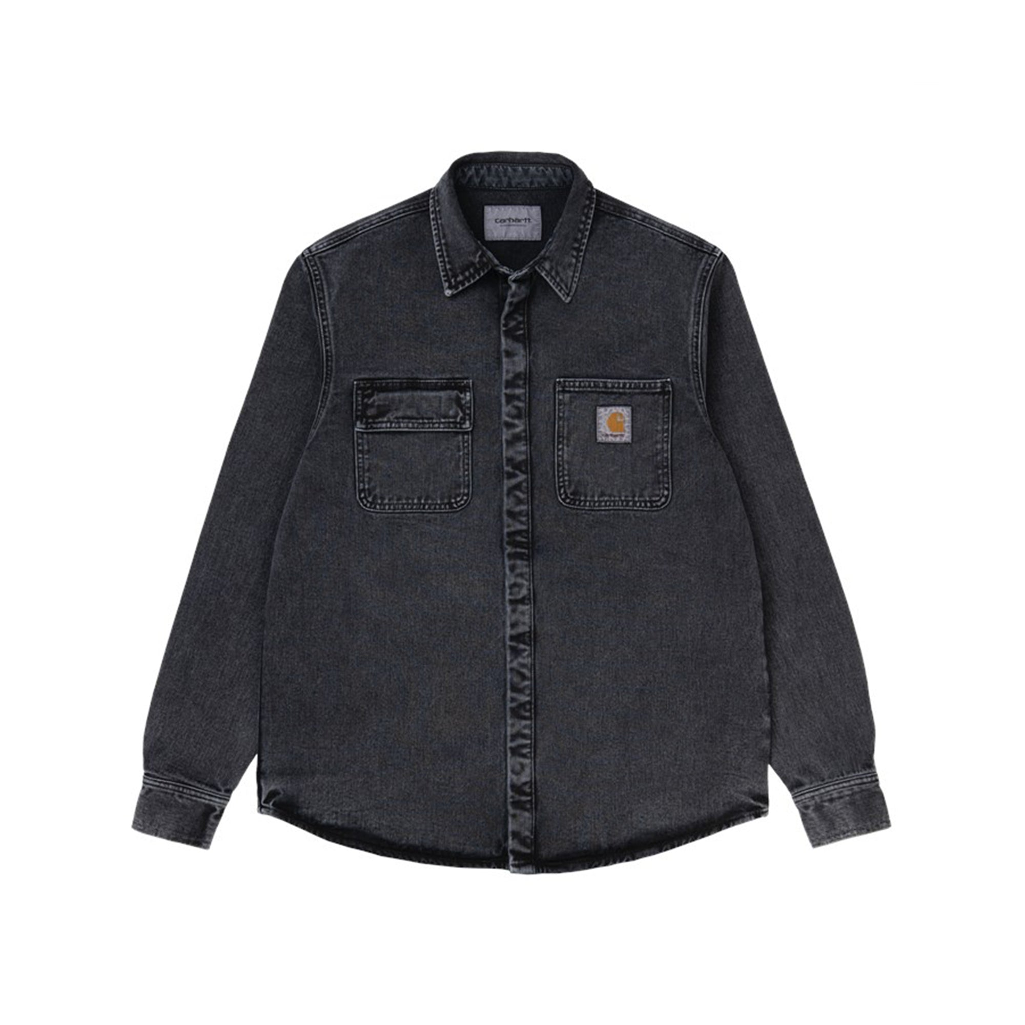 Carhartt WIP Salinac Shirt Jac: Black Worn Washed - The Union Project