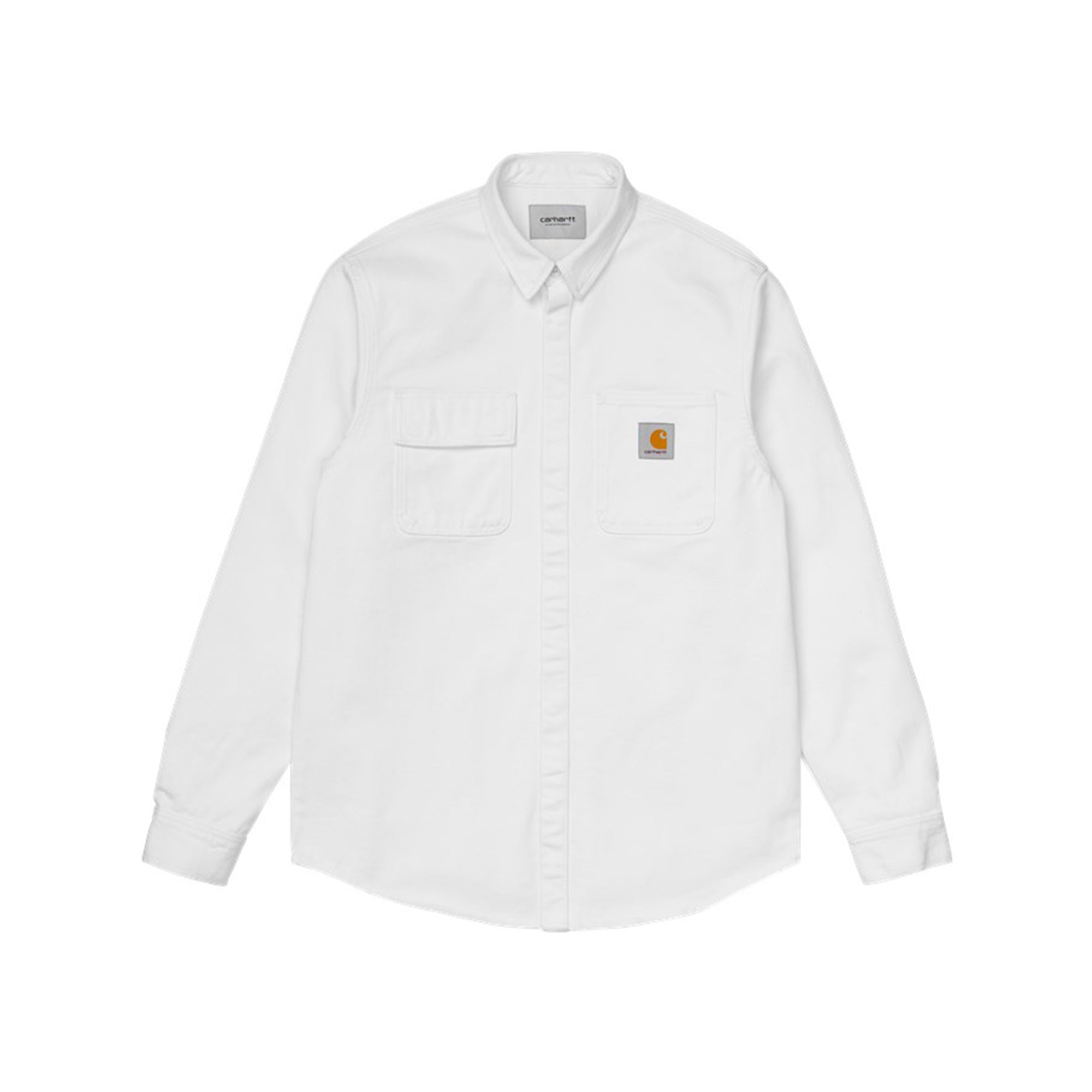 Carhartt WIP Salinac Shirt Jac: White Worn Washed - The Union Project