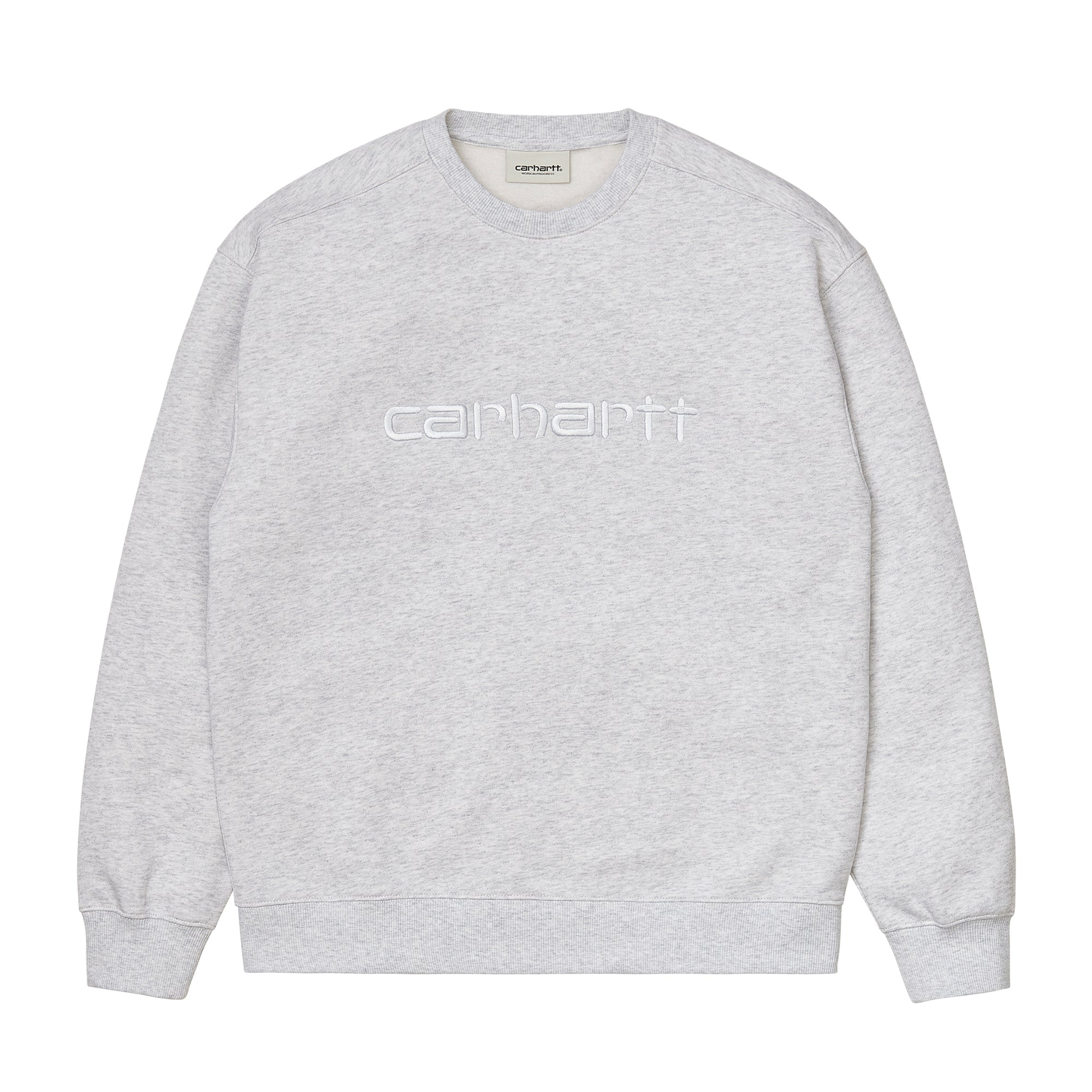Carhartt WIP Womens Carhartt Sweat: Ash Heather / White - The Union Project