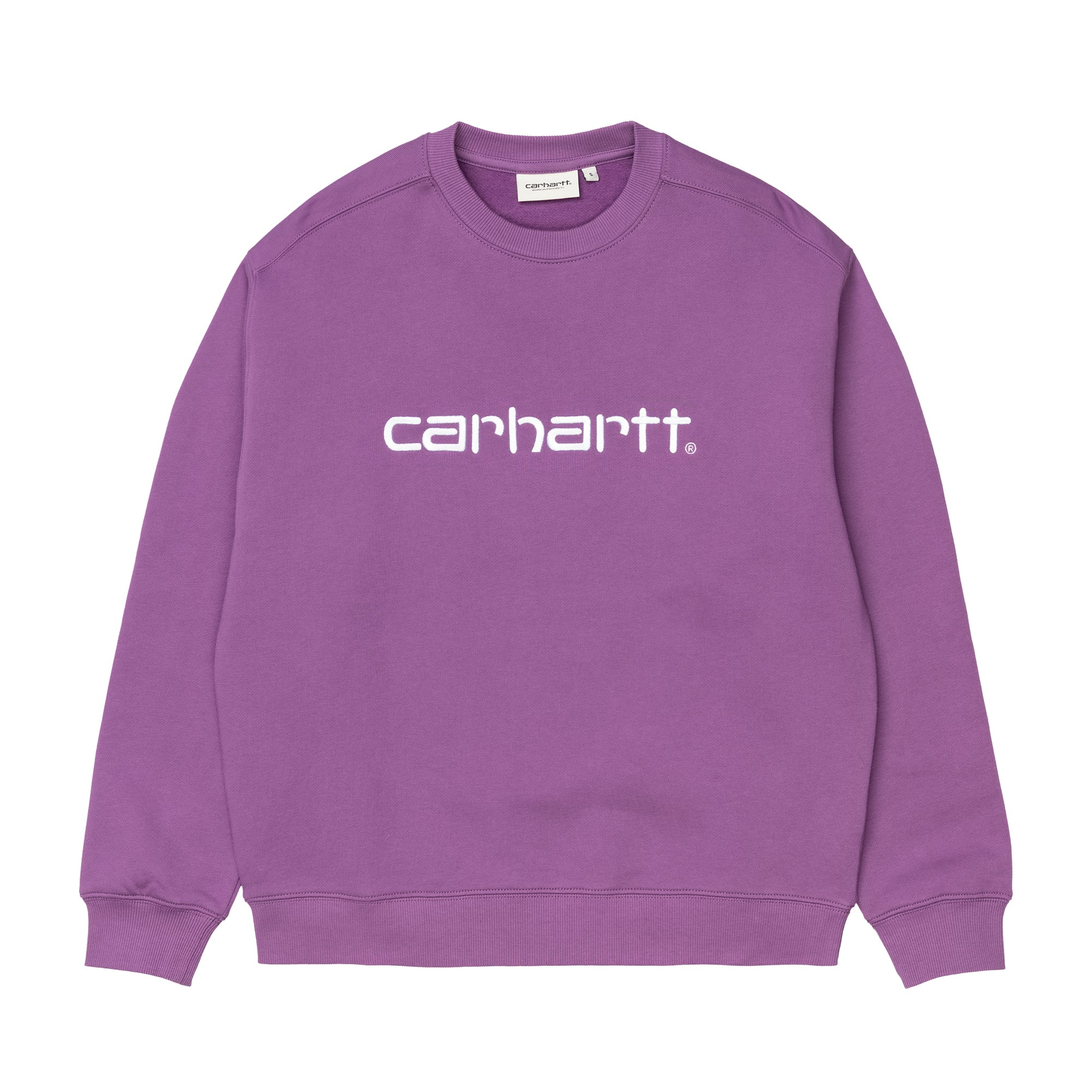 Carhartt WIP Womens Carhartt Sweat: Aster / White - The Union Project