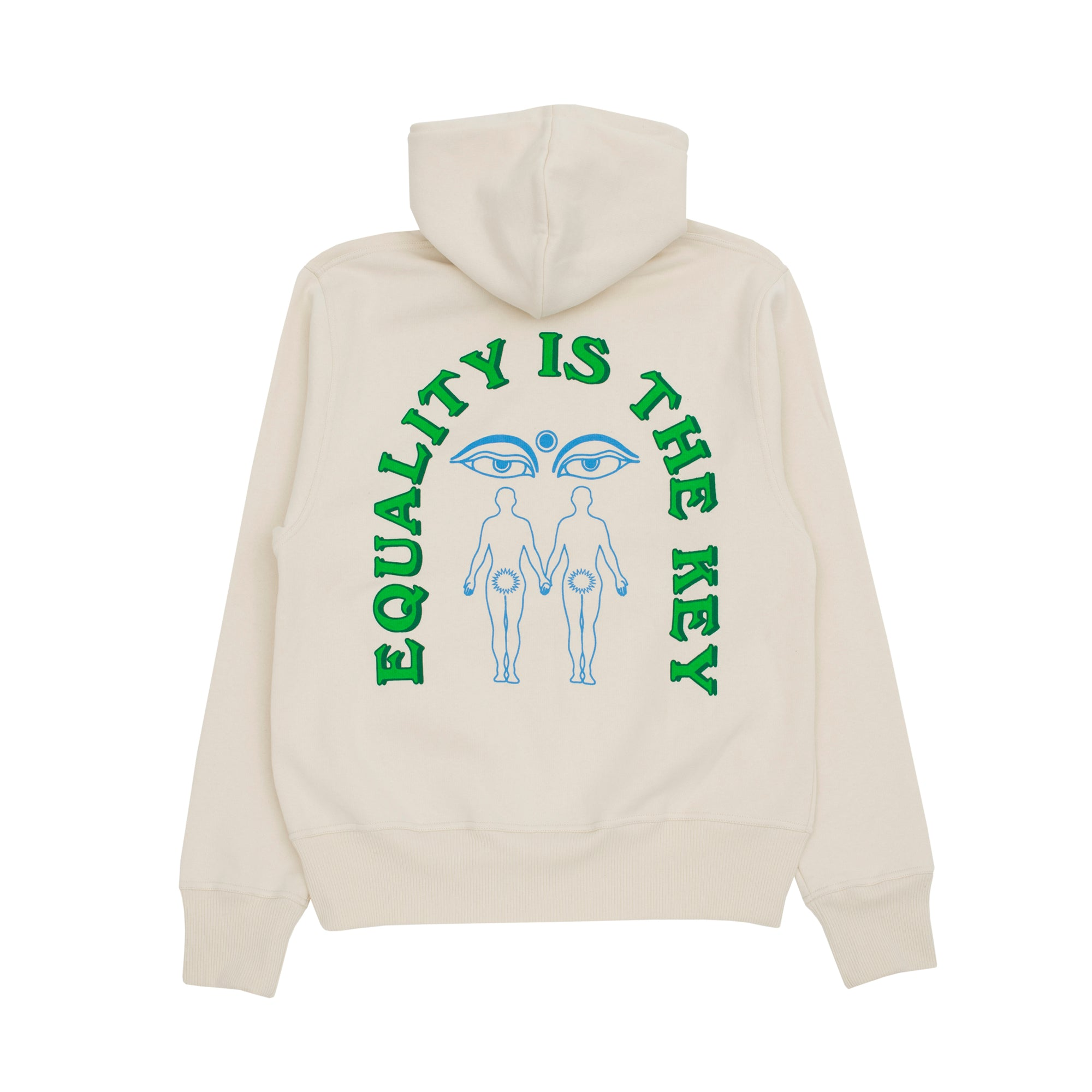 Carne Bollente Equality Is The Key Hoodie: Beige - The Union Project