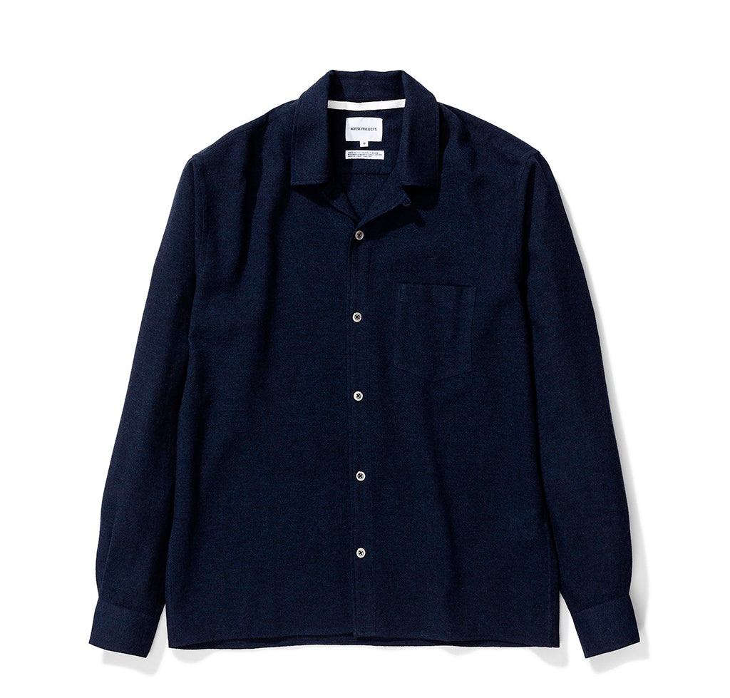 Shirt Norse Projects Carsten Light Wool: Dark Navy - The Union Project, Cheltenham, free delivery