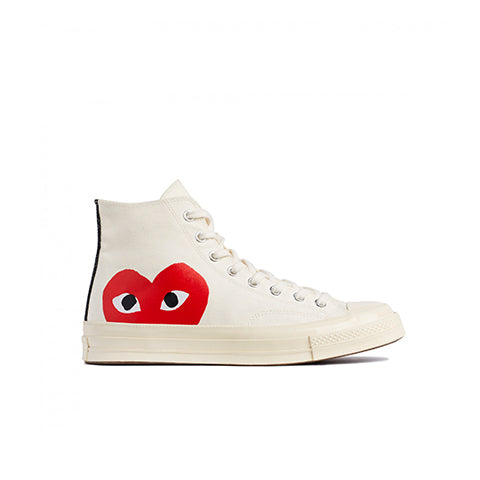 Comme des Garçons Play x Converse Chuck Taylor Hi: Beige - The Union Project