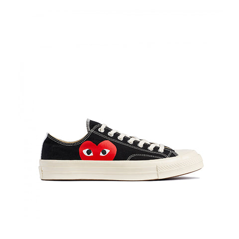 Comme des Garçons Play x Converse Womens Chuck Taylor: Black - The Union Project