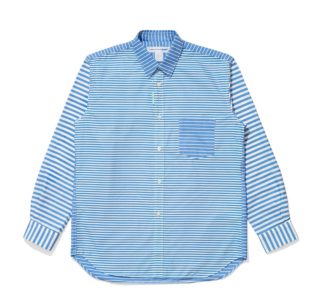Comme des Garçons Shirt Woven Shirt: Stripe / Mix 3 - The Union Project