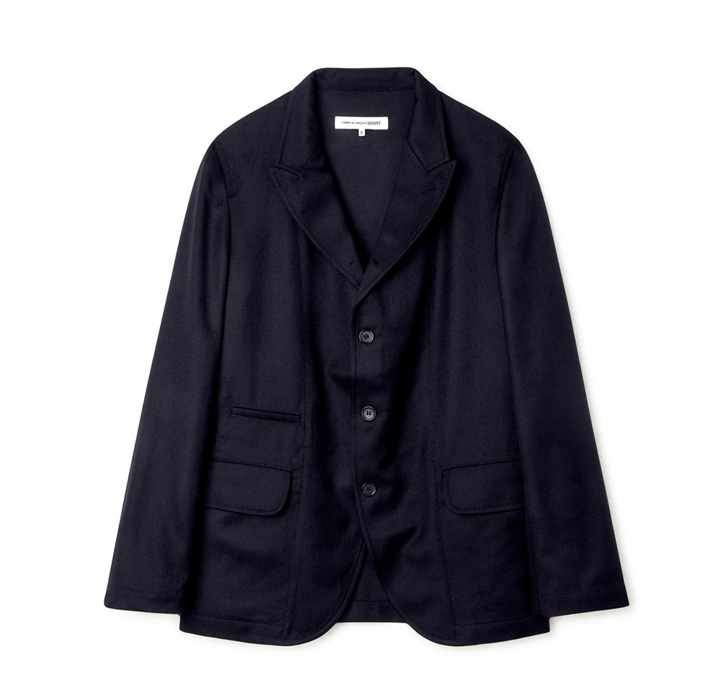 Comme des Garçons Shirt Woven Blazer: Navy - The Union Project