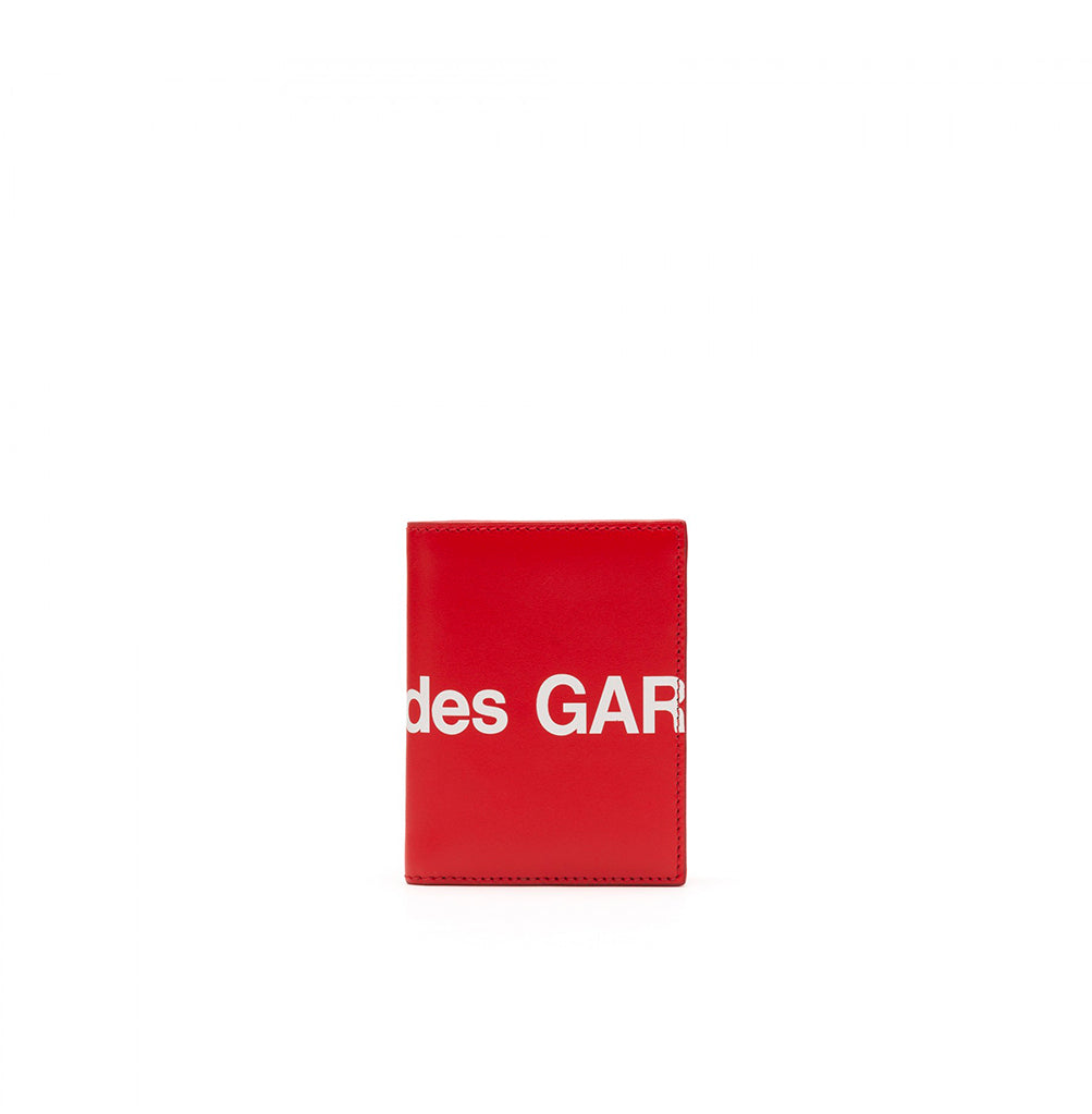 Comme des Garçons Wallet Flip Wallet Huge Logo (SA0641HL): Red - The Union Project