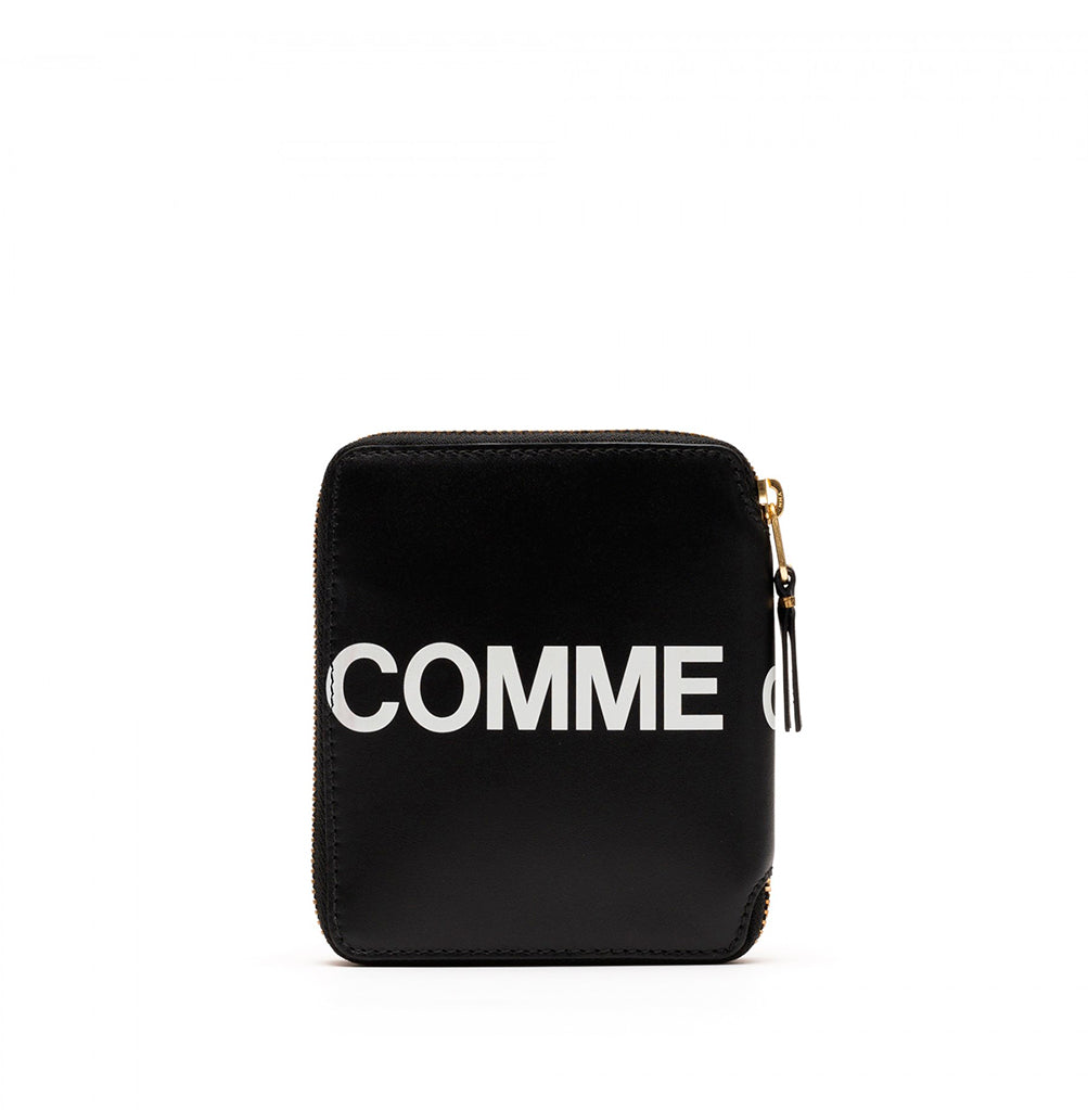 Comme des Garçons Wallet Zip Round Wallet Huge Logo (SA2100HL): Black - The Union Project