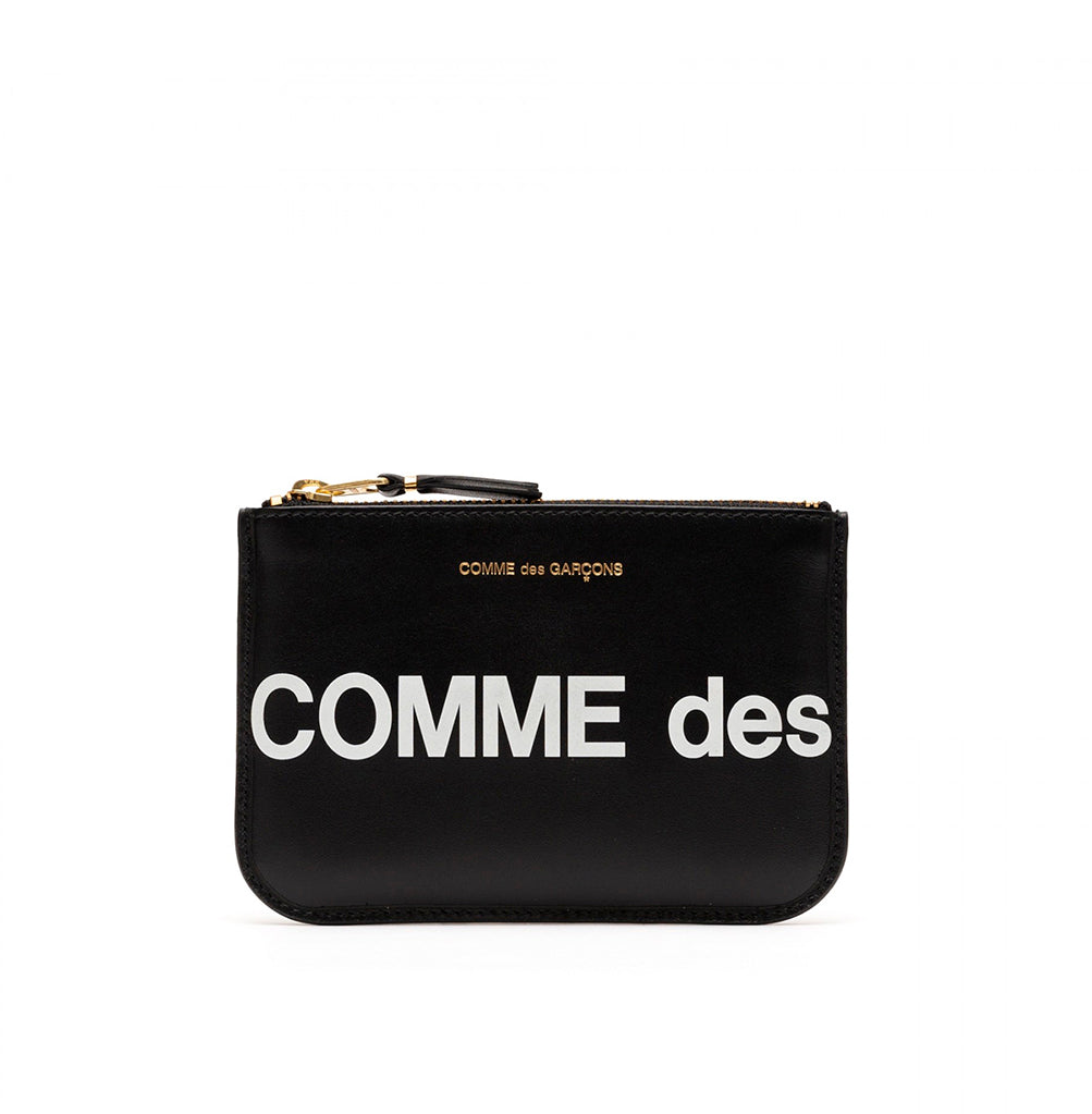 Comme des Garçons Wallet Zip Pouch Huge Logo (SA8100HL): Black - The Union Project