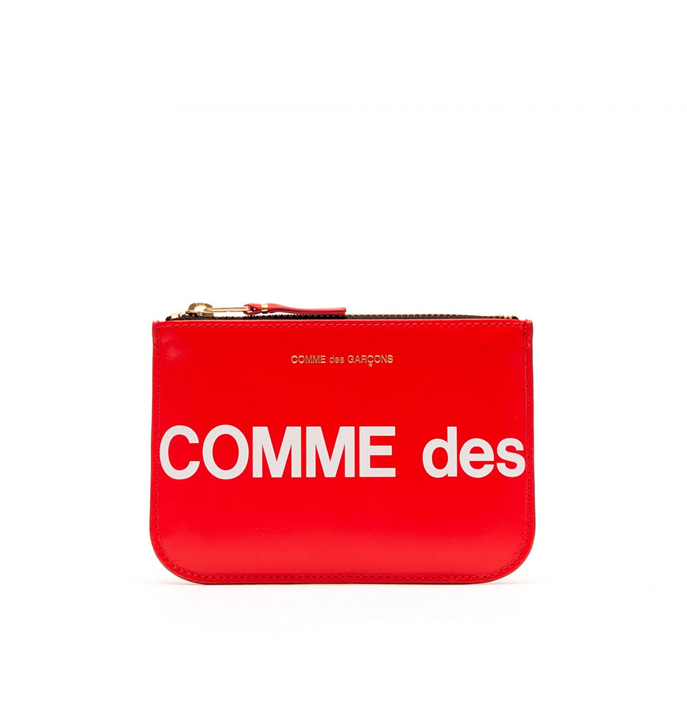 Comme des Garçons Wallet Zip Pouch Huge Logo (SA8100HL): Red - The Union Project
