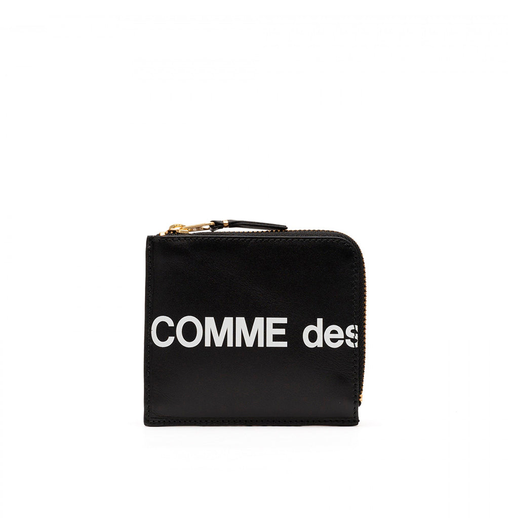 Comme des Garçons Wallet Zip Wallet Huge Logo (SA3100HL): Black - The Union Project