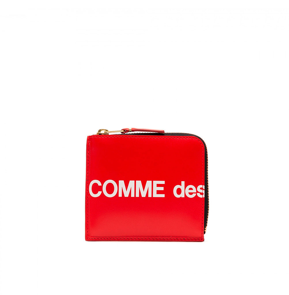 Comme des Garçons Wallet Zip Wallet Huge Logo (SA3100HL): Red - The Union Project