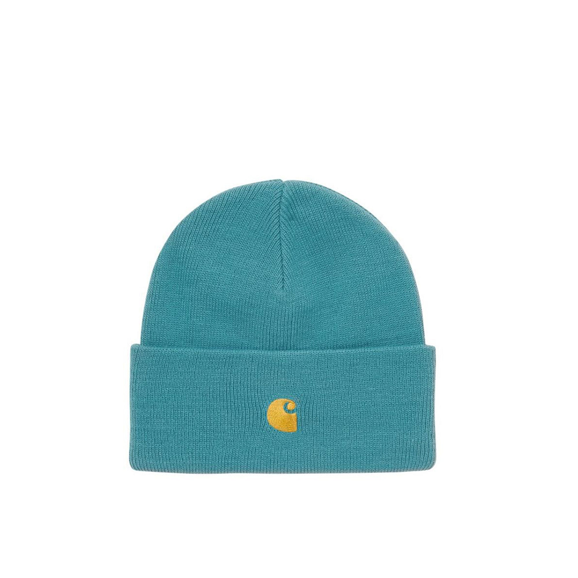 Carhartt WIP Chase Beanie: Hydro / Gold - The Union Project