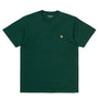Carhartt WIP Chase T-Shirt: Dark Teal / Gold